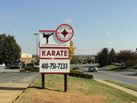 Tristar Martial Arts – Monument Sign – Westminster, Maryland